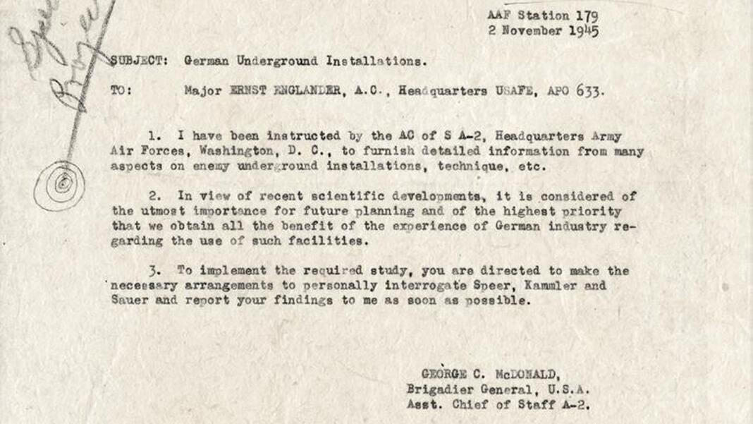 Документ американской контрразведки, подтверждающий, что Ганс Каммлер после войны был перевезён в США