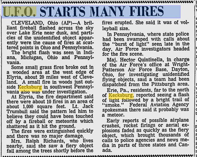 Заметка в газете The Spokesman-Review от 10 декабря 1965 года