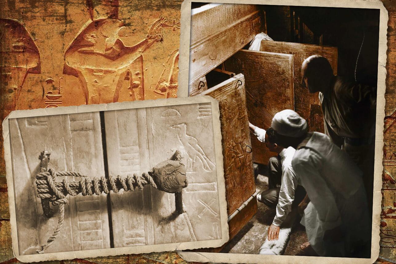 Открытие ковчега с саркофагами Тутанхамона