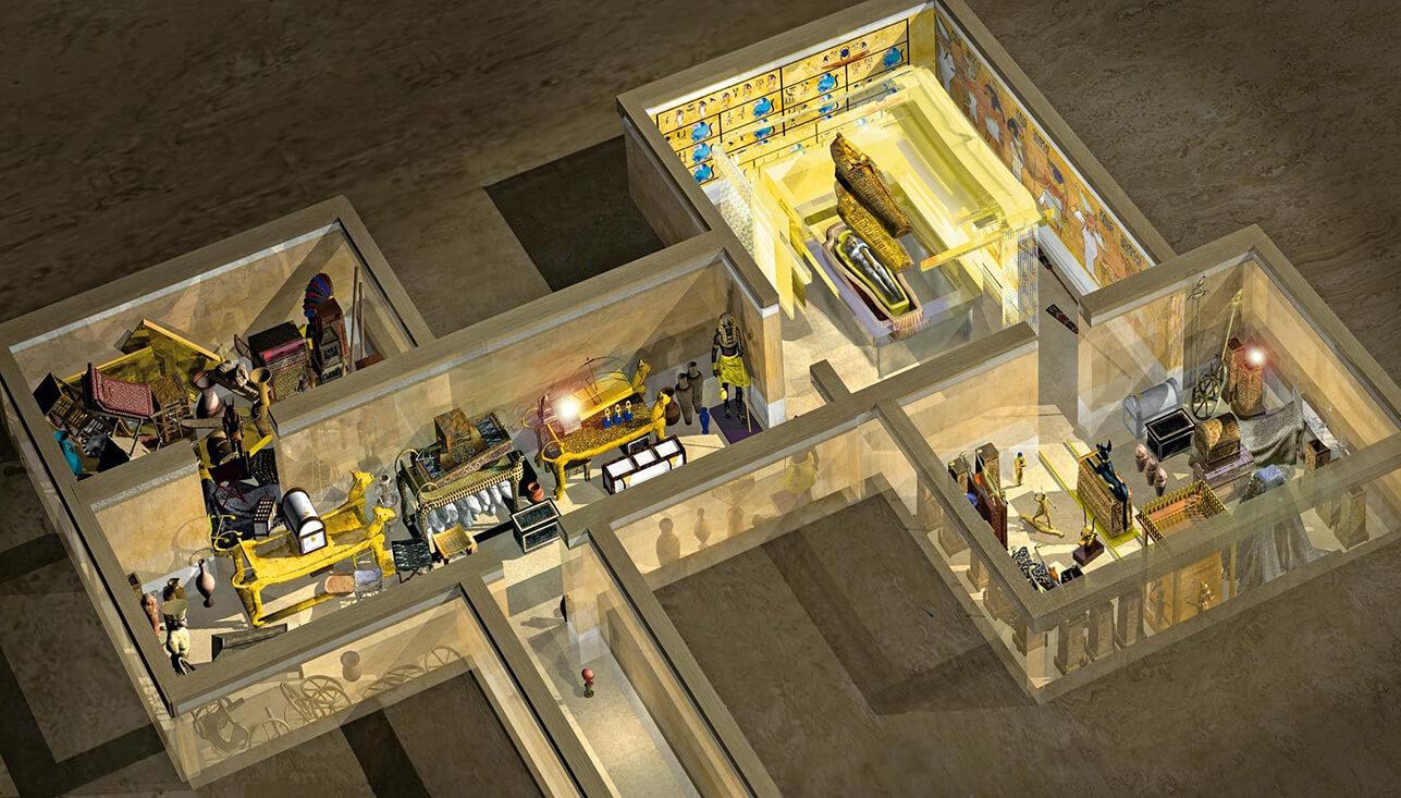 Схема гробницы Тутанхамона